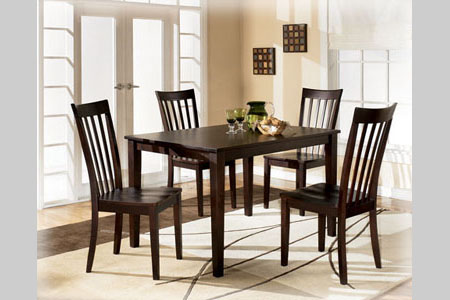 RECT Dining Room Table W/4 Chairs (D258 225)