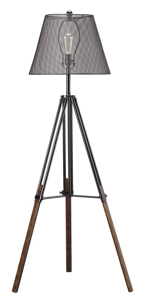 Metal floor lamp ashley metal floor lamp l207991 mozeypictures Gallery